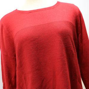 Croft & Barrow Woman's XL Red Long Sleeve Sweater